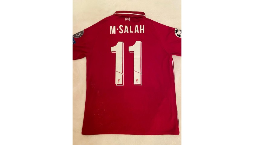 Salah's Worn and Unwashed Shirt, Liverpool-Napoli 2018