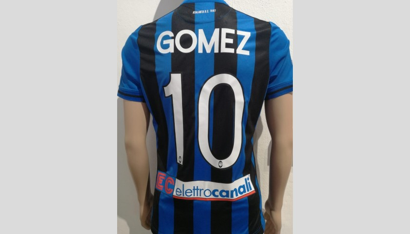 Gomez's Atalanta Match-Issue Shirt - Signed with Dedication