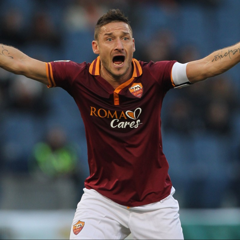 Totti's Roma Signed Match Shirt, Serie A 2013/14