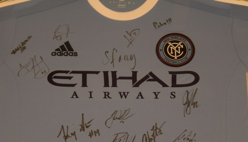 New York City FC Signed and Framed 2015/16 Shirt
