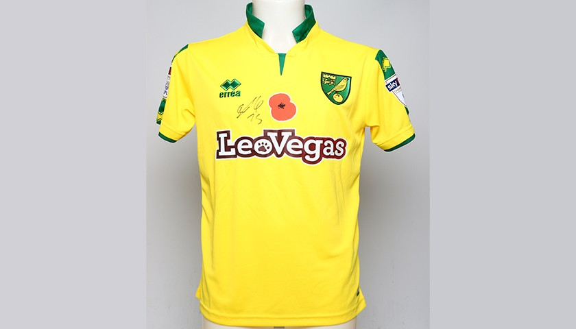 0438d75d2 Poppy Shirt Signed by Norwich City FC s Tom Trybull - CharityStars
