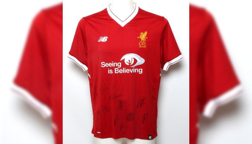 Signed 2017/2018 LFC Squad Limited Edition 'Seeing is Believing' Shirt