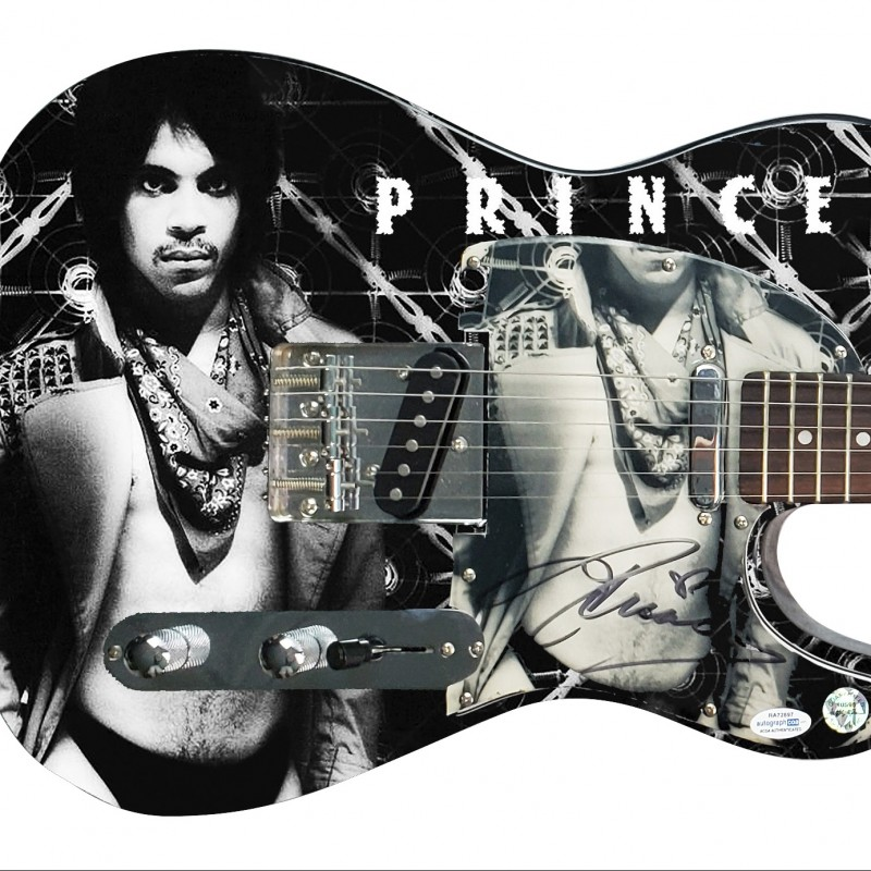 Prince Hand Signed Custom Graphics Guitar
