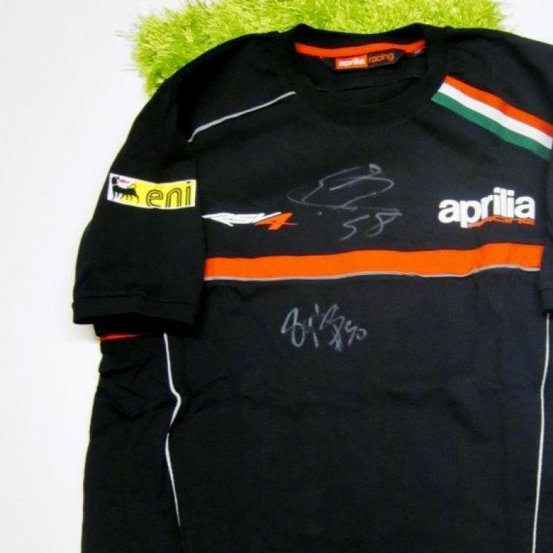 Aprilia shirt signed by Laverty and Guintoli