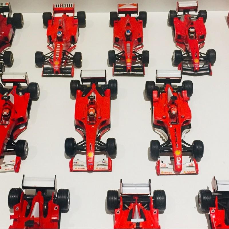 Michael Schumacher Ferrari Cars, Valves and Signed Postcard