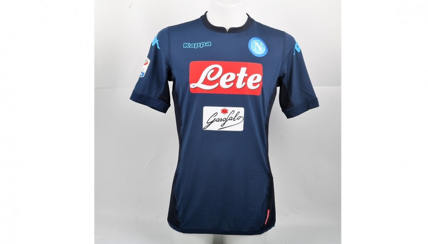 Hamsik's Match-Issued/Worn Napoli Shirt, Autographed 2017/18