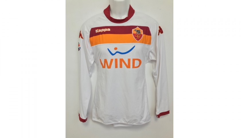 Totti's Roma Worn and Signed Shirt, 2008/09