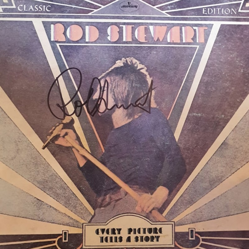 Rod Stewart Signed Every Picture Tells A Story Vinyl LP