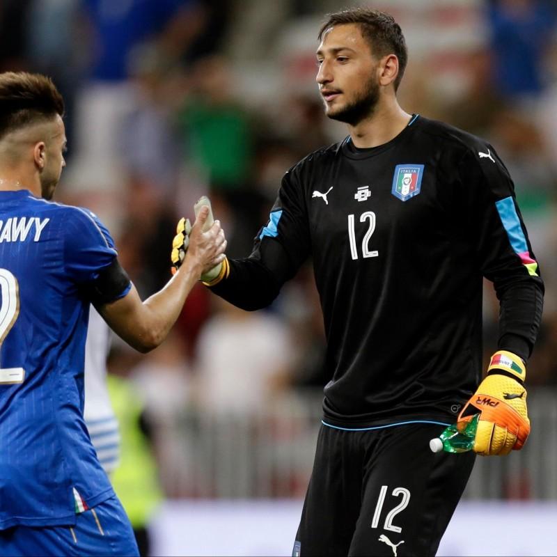 Donnarumma's Match Shirt, Uruguay-Italy 2017