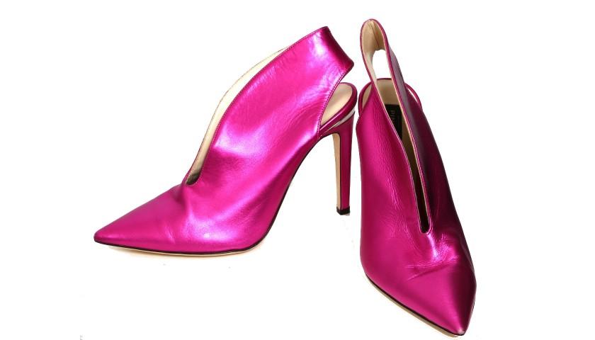 Metallic Fuschia Pink Pinko Shoes