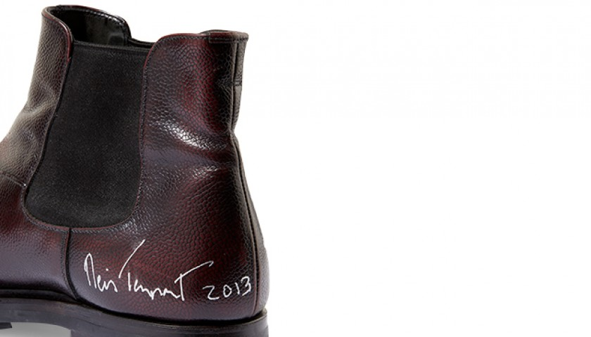 Neil Tennant's Autographed Prada Chelsea Boots from his Personal Collection CharityStars