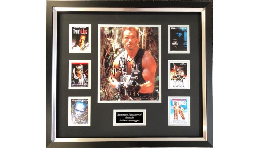 Arnold Schwarzenegger Framed and Hand-Signed Photo