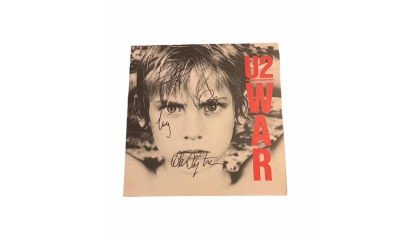 U2 Fully Signed War Vintage Vinyl LP