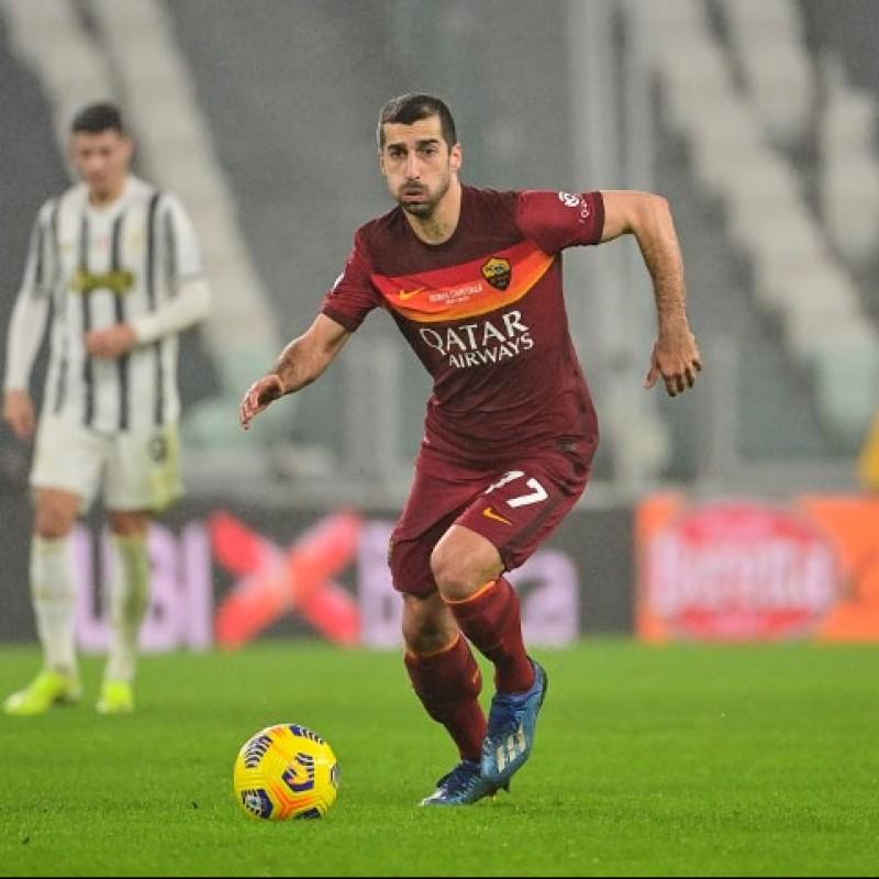 """Mkhitaryan's Worn Shirt, Juventus-Roma 2020/21 - """"Roma Capitale"""" 150th Anniversary"""