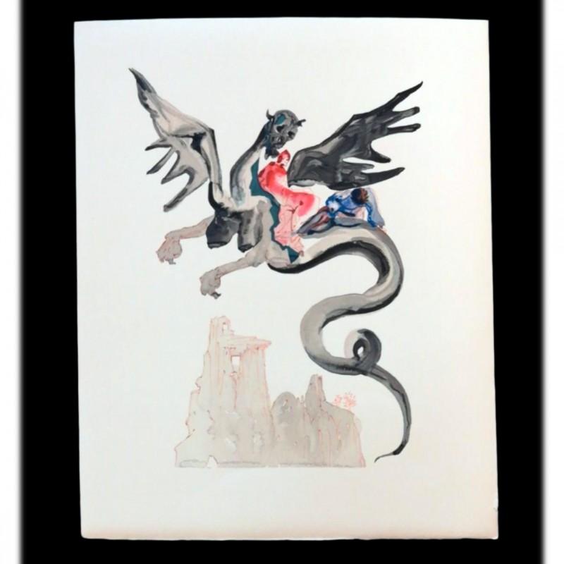 Original Board by Salvador Dalì - Divine Comedy Inferno Canto XVIII
