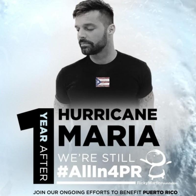 "Ricky Martin's ""AllIn4PR"" Shirt"