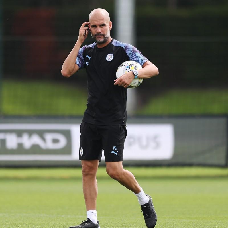 Manchester City PUMA 2019/20 Worn Training Kit, Three Piece - Pep Guardiola