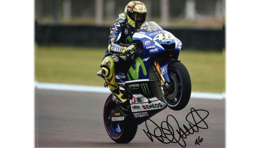 Valentino Rossi Signed Photograph