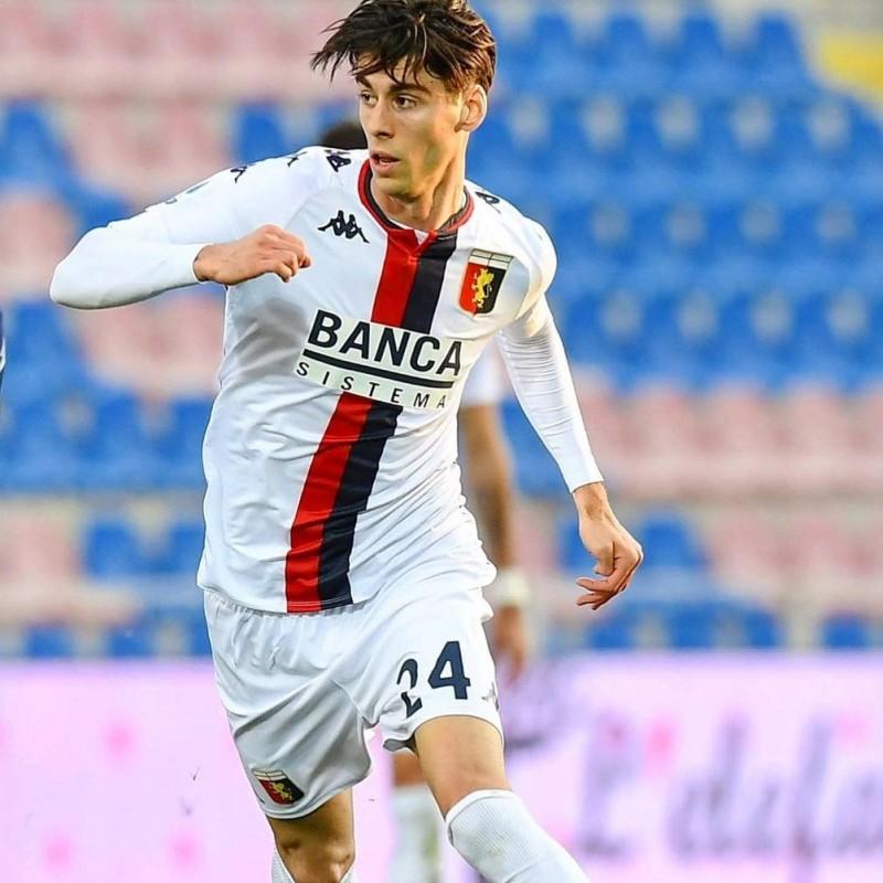 Melegoni's Genoa Signed Match Shirt, 2020/21