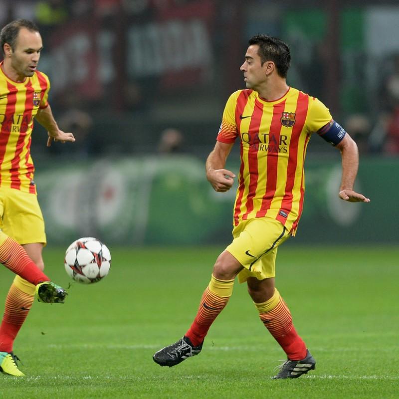 Xavi's Official Barcelona Signed Shirt, 2013/14