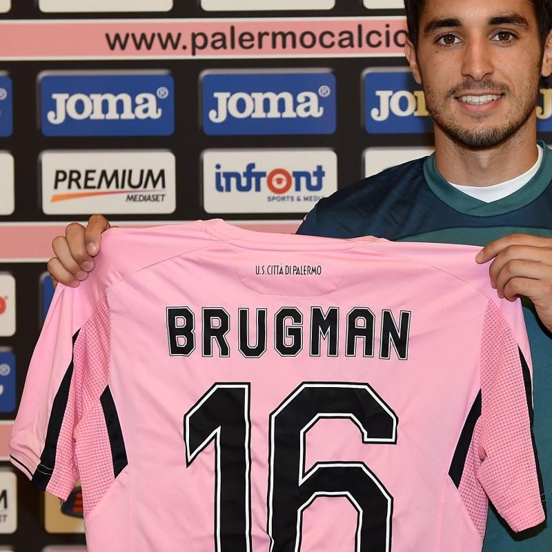 Palermo shirt celebrating new player Gaston Brugman - signed
