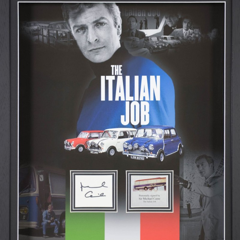 "Display film ""The Italian Job"" autografato da Michael Caine"