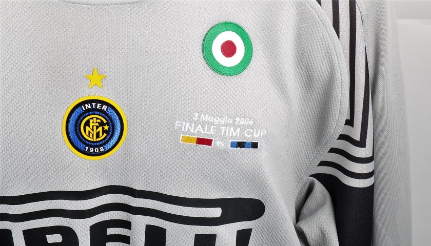 Toldo's Roma-Inter Match-Issued Shirt, 2005/06 TIM Cup Final