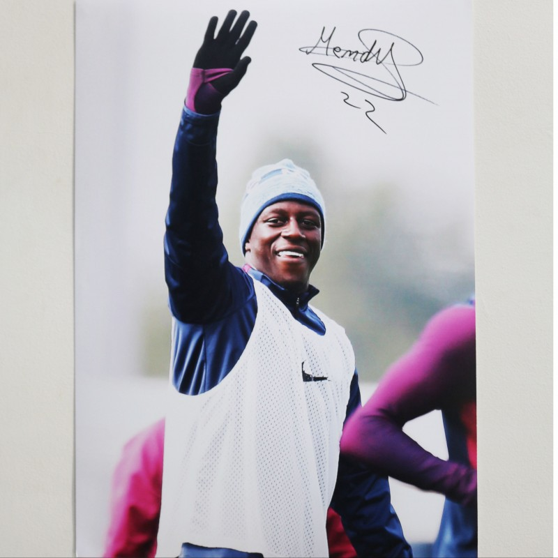 Benjamin Mendy Manchester City A2 Signed Photograph