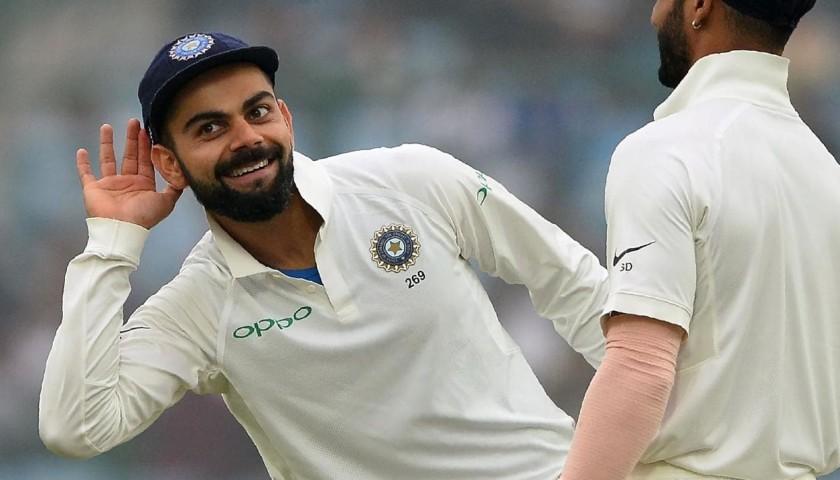India Test Cap Signed by Virat Kohli
