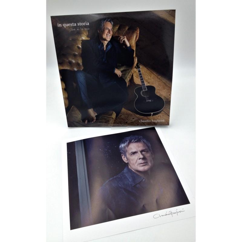 """""""In questa storia che è la mia"""" Double LP + Claudio Baglioni Signed Photograph"""