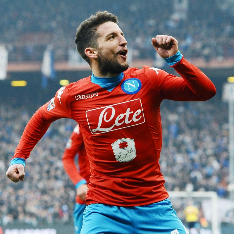 Mertens' Napoli Worn and Signed Shirt, 2015/16