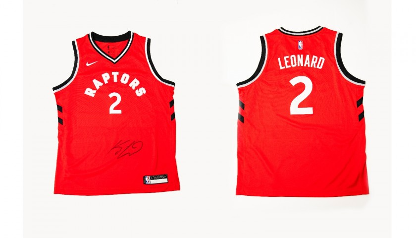 timeless design 2ff28 2a144 Official Toronto Raptors NBA Shirt Signed by Kawhi Leonard - CharityStars