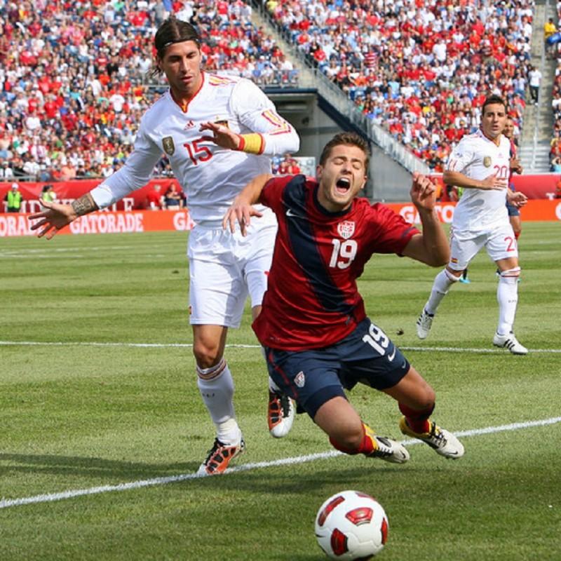 Sergio Ramos' Signed Match Shirt, USA-Spain 2011