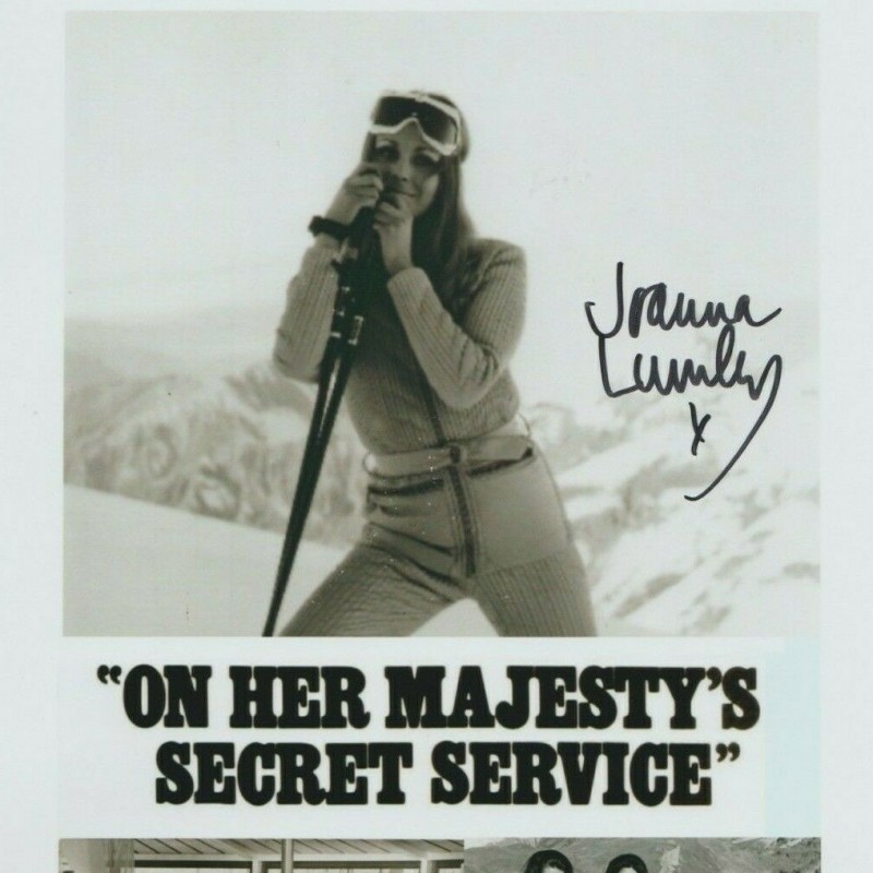 """""""007 James Bond"""" Photograph Signed by Joanna Lumley"""
