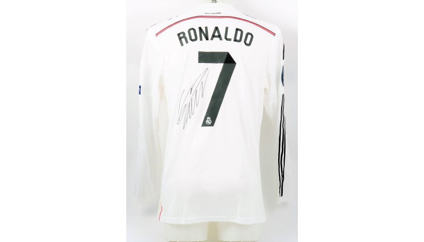 Ronaldo's Real Madrid Signed Match Shirt, UEFA Supercup 2014