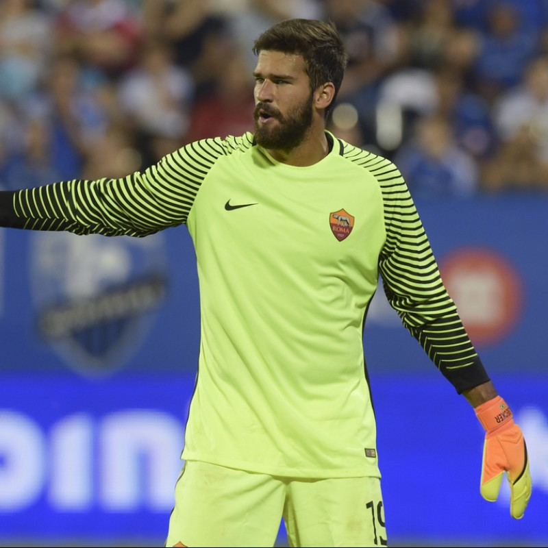 Alisson's Match-Issued Roma Shirt, 2016 / 2017 Serie A