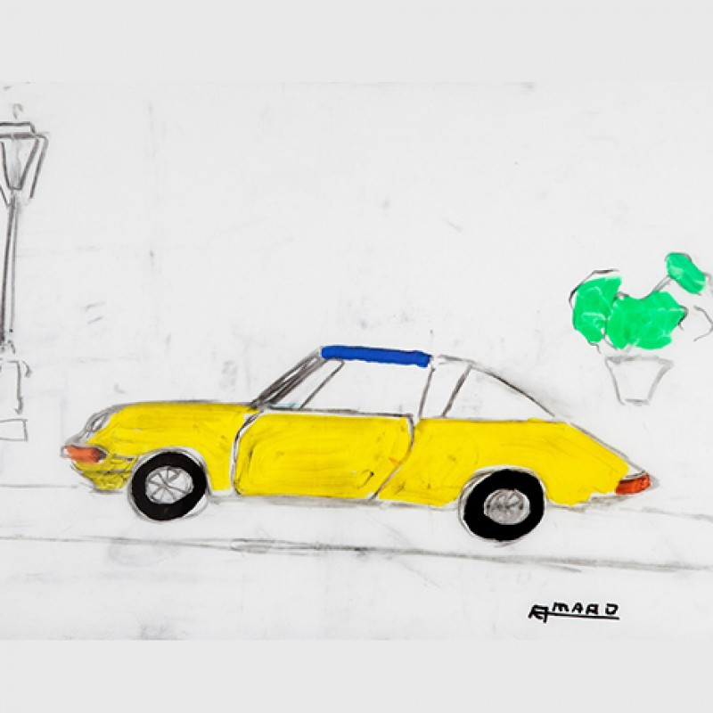 """Yellow Porsche"" by Marcos Amaro"