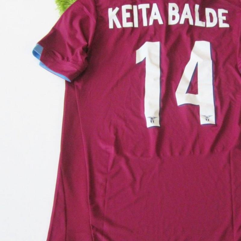 Keita Balde Lazio match issued/worn shirt, Serie A 2014/2015
