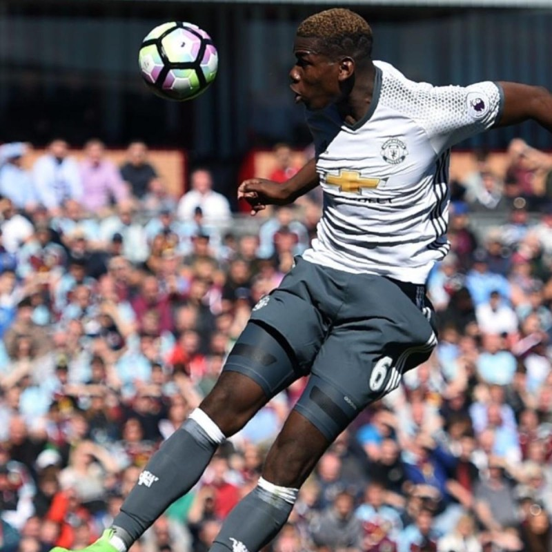 Pogba's Manchester United Match Shirt, PL 2016/17