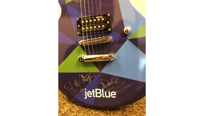 Pitbull Signed JetBlue Electric Guitar