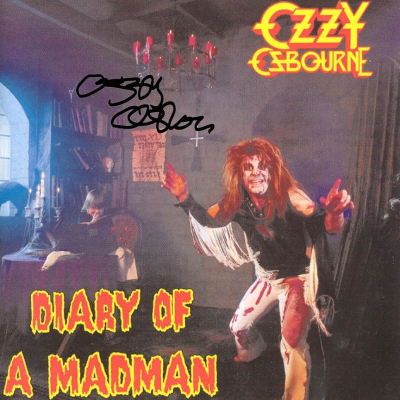 Ozzy Osbourne Album with Printed Signature