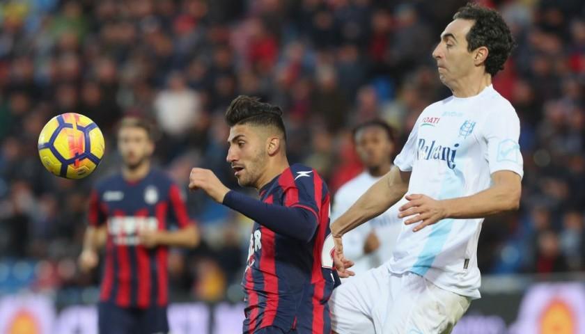 Dainelli's Signed Match-Worn Crotone-Chievo Shirt, UNWASHED