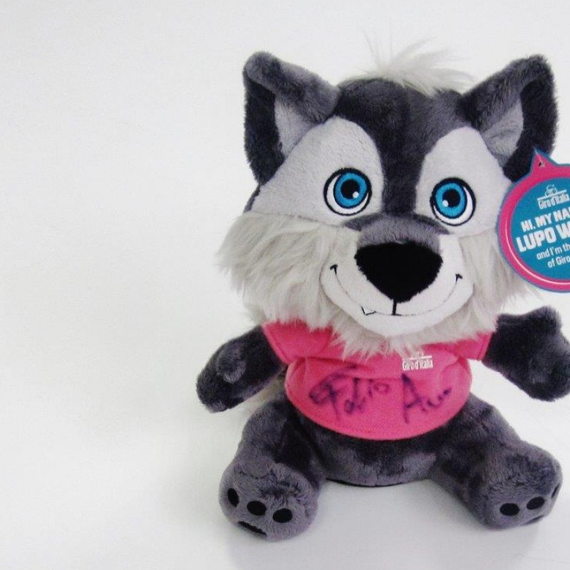 Official Giro d'Italia stuffed animal, signed by Fabio Aru