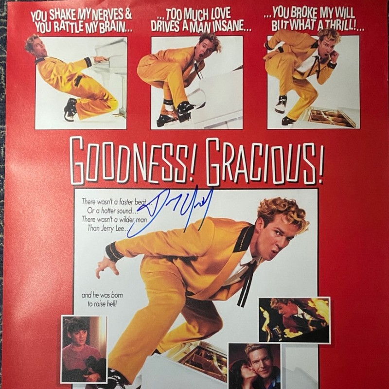 Dennis Quaid Signed Great Balls of Fire Original Movie Poster