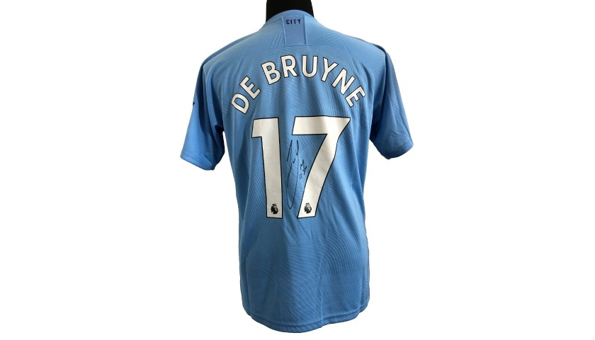 De Bruyne's Manchester City Signed Match Shirt, 2019/20