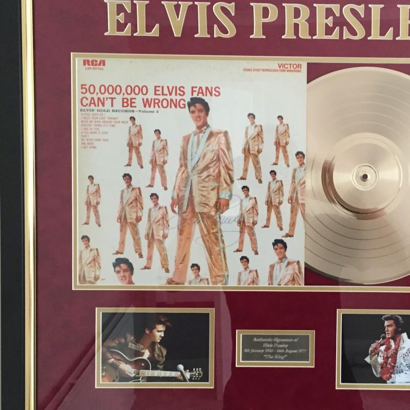 Elvis Presley Signed LP Cover - Framed
