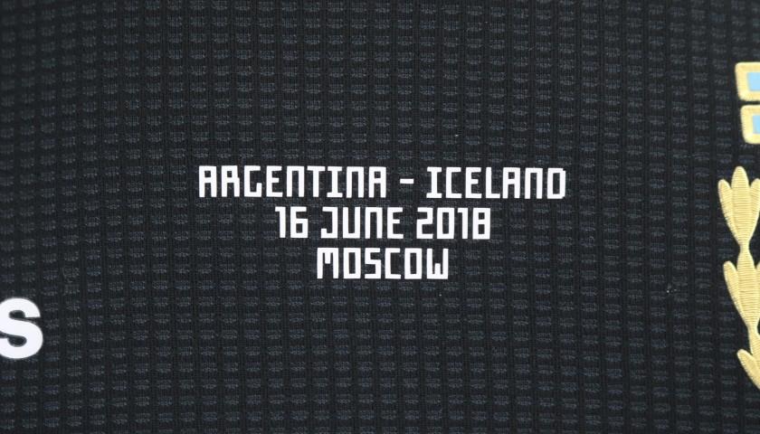 Aguero's Signed Match Shirt, Argentina-Iceland 2018