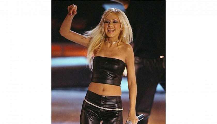 Christina Aguilera Stage Worn and Hand Signed Crop Top