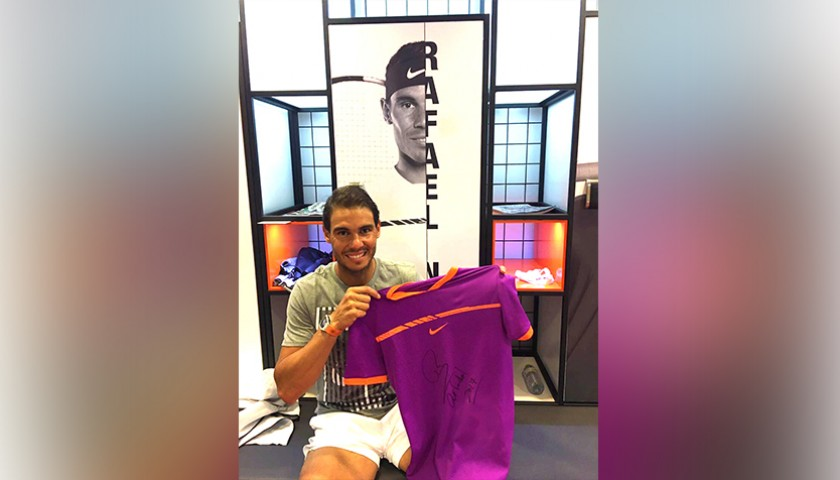 Nadal Victory Match-Worn Shirt, Madrid Open 2017