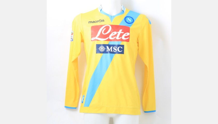 Zuniga's Napoli Match-Issue Shirt, Serie A 2013/14